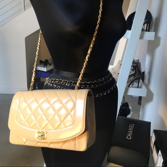 b907db93761c CHANEL Bags | Sold Auth Timeless Ml Lambskin Diana Flap | Poshmark
